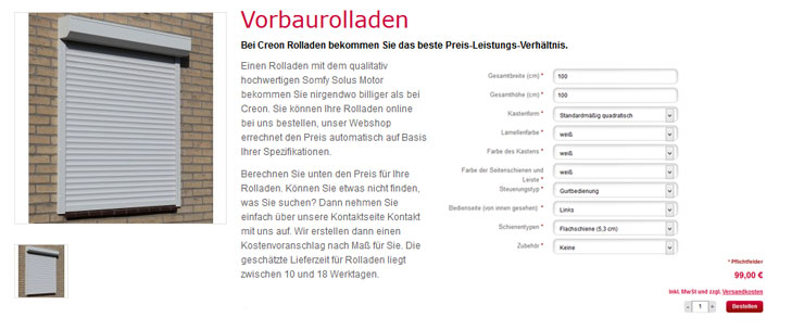 Creon Rolladen Onlineshop