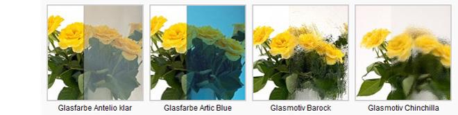 Glasfarben Glasvordach Dura