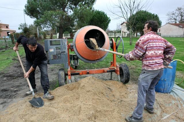 Beton mischen - Grundmaterial und Anleitung
