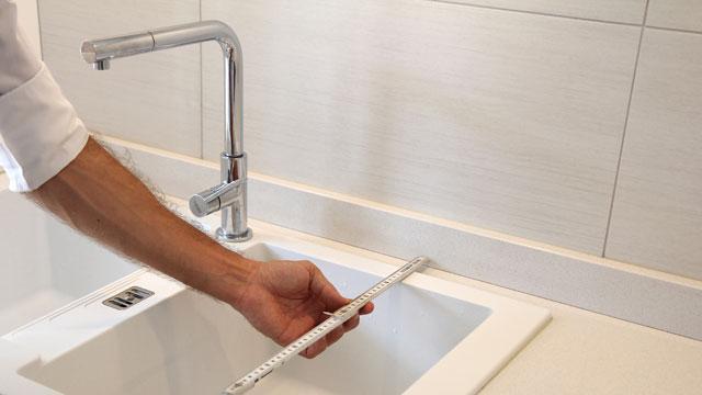 Küchenarbeitsplatte ausmessen