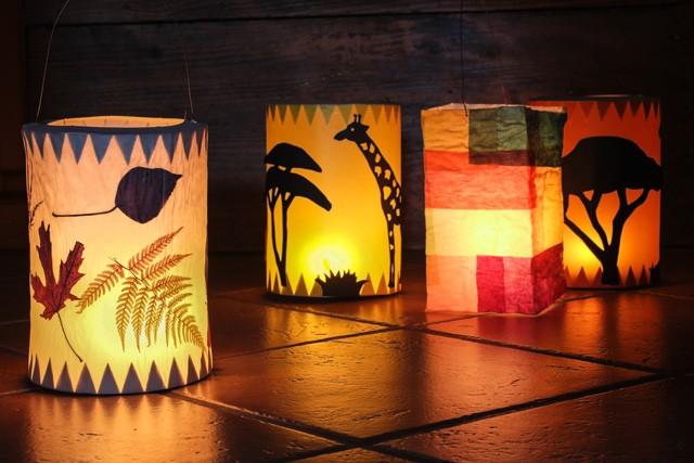 Reispapierlampe bekleben und bemalen: 4 Ideen für mehr Pepp!