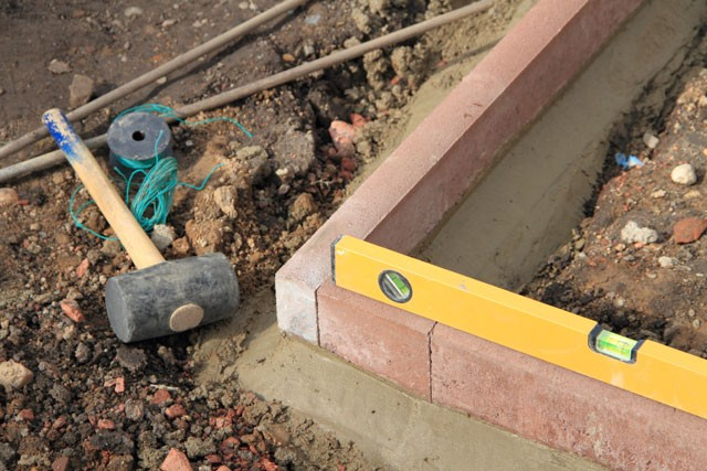 Terrassenfundament betonieren - So wird's gemacht