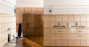 Zwischenwände im Badezimmer einziehen - Kleiner Ablaufplan