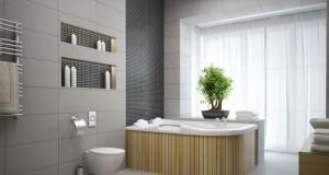 Sanitärobjekte symmetrisch auf Fuge oder Fliese setzen