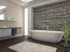 Badezimmer tapezieren welche Tapete