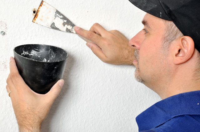 Wand spachteln