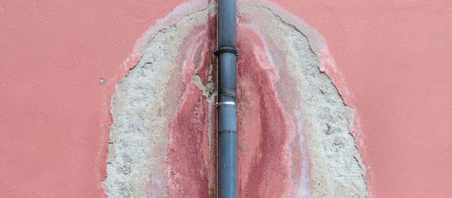 Verstopfter Dachablauf