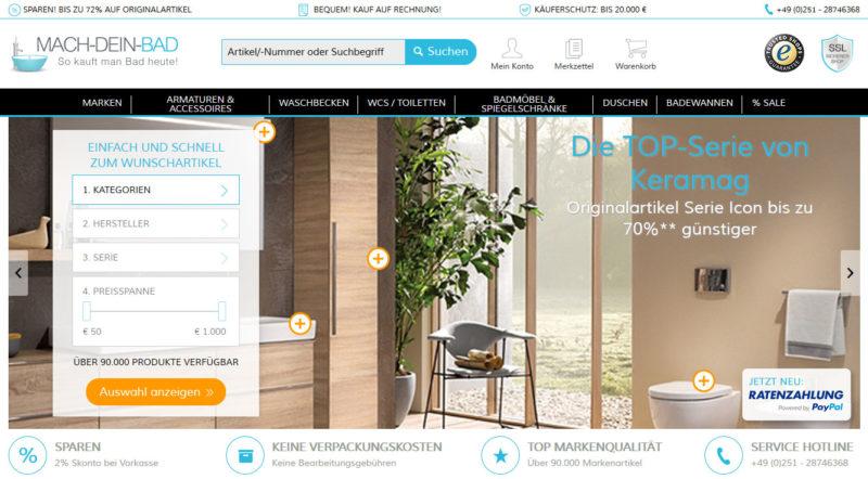Mach-Dein-Bad.de Onlineshop im Test - Heimwerkertricks.net