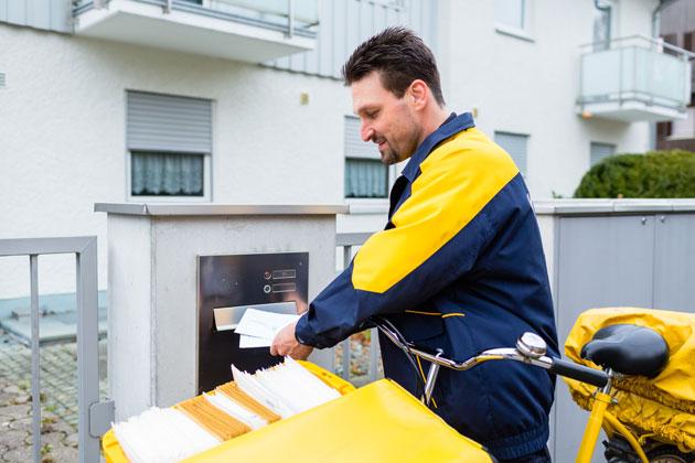 Briefkasten anbringen wo Erreichbarkeit