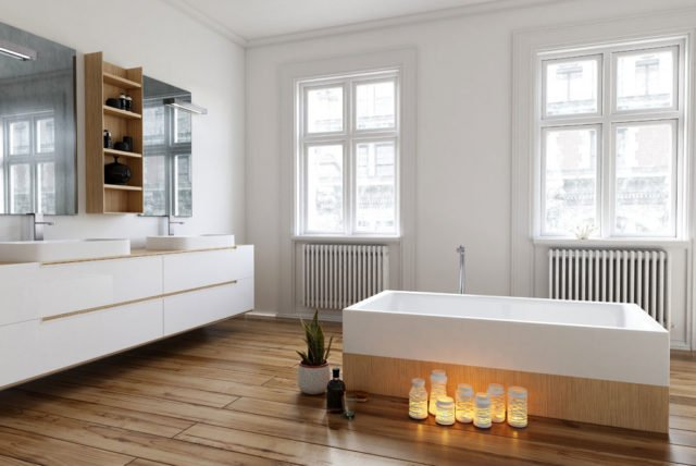 laminat im bad verlegen spezielles laminat macht 39 s. Black Bedroom Furniture Sets. Home Design Ideas