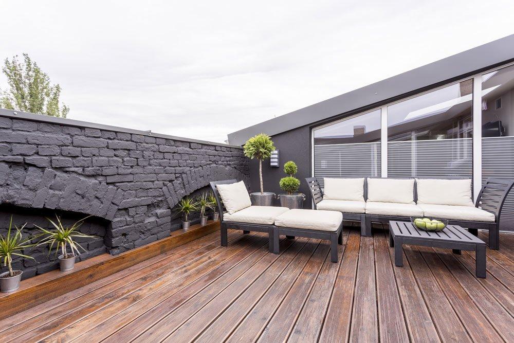 sichtschutz auf der terrasse  ideen fuer mehr
