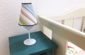 Lampe Weinglas selber machen